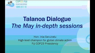 Download Talanoa Dialogue Pre-Briefing Webinar 18 April 2018 Video