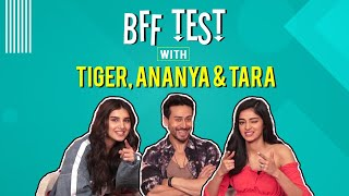 Download BFF Test with Tiger Shroff, Ananya Panday and Tara Sutaria | Student of the Year 2 | EXCLUSIVE Video