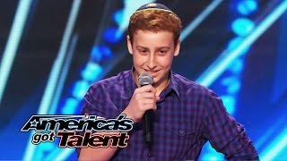 Download Josh Orlian: 12-Year-Old Standup Comedian Gets Naughty on AGT Stage - America's Got Talent 2014 Video