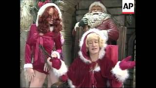 Download Drag Santa spanks naughty New Yorkers in shop window Video