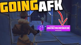 Download Going AFK Whilst Trading Spectrolite Ore (RARE ITEM) - Fortnite Save The World Video