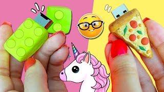 Download 👉 3 IDEAS para DECORAR tu MEMORIA USB o PENDRIVE * 🍕 Pizza Kawaii, LEGO y 🦄 Cuerno de UNICORNIO! Video