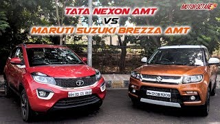 Download Tata Nexon AMT vs Maruti Vitara Brezza AMT Comparison | Hindi | MotorOctane Video