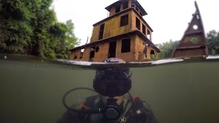 Download Scuba Diving Half Sunken Tug Boat in River! (Explored for Potential Treasure) | DALLMYD Video