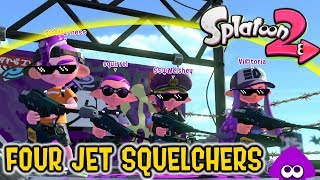 Download 4 JET SQUELCHER BROS [feat. Squirrel, Welshgamer547, and Madness!] - Splatoon 2 Video