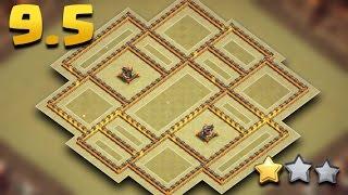 Download TH9.5 War Base (TH10 No 3rd Xbows, No Infernos)   Town Hall 9.5 War Base Anti 3 Star Video
