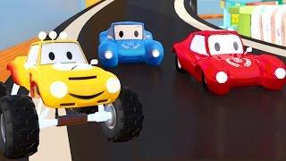 Download Lucas el Camioncito construye un Auto de Carreras   Dibujos animados para niños Video