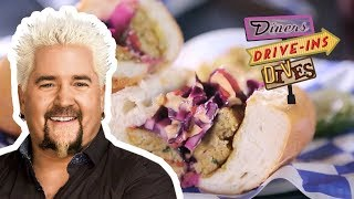 Download Thai Curry Chicken Sausage Sandwich from #DDD with Guy Fieri | Food Network Video