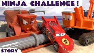Download Disney Cars Toys & Ninja McQueen Race Spiderman Avengers Batman Superheroes Escape Frank & Crane Video