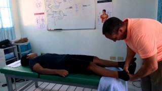 Download Chiropractic Treatment of young man with poor posture. Video