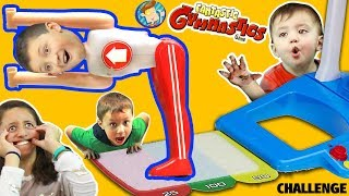 Download FANTASTIC GYMNASTICS CHALLENGE! Losers Eat Melted Candy! FUNnel Vision Flips & Fails Fun Video