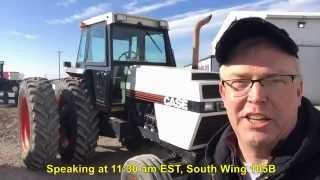 Download Clay City, Indiana Farm Auction 2/10/15: 1984 Case 2594 Tractor Video