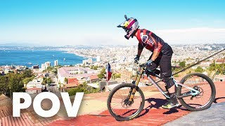 Download Urban DH over roofs and houses with Brook MacDonald | Red Bull Valparaíso Cerro Abajo 2018 Video
