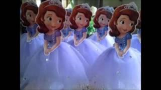 Download decoração de mesa da princesas sofia, Decoración princesa Sofia video, CENTRO DE MESA PRINCESA SOFIA Video