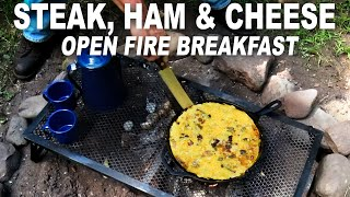 Download Open Fire Egg, Steak, Ham and Cheese breakfast by the BBQ Pit Boys Video