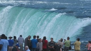 Download Niagara Falls Ontario Canada - View From Promenade & Hornblower Boat Cruise Video