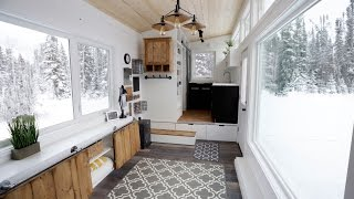 Download Open Concept Modern Tiny House with Elevator Bed Video