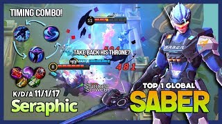 Download Saber with 5897 Match, Annoying Mid Lane! Seraphic Top 1 Global Saber ~ Mobile Legends Video