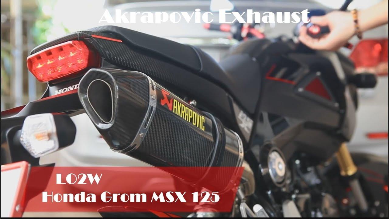 stream top 10 full exhaust sound honda grom msx 125 / akrapovic