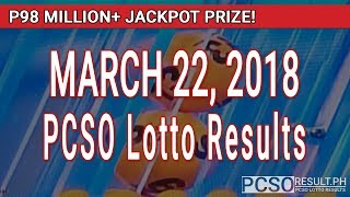 Download PCSO Lotto Results Today March 22, 2018 (6/49, 6/42, 6D, Swertres, STL & EZ2) Video
