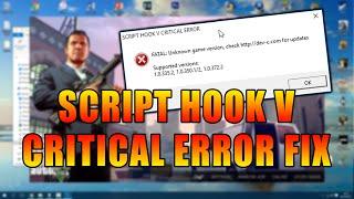 Download GTA V Script Hook V ″Critical/FATAL Error″ Solution! (READ DESCRIPTION/COMMENTS) Video