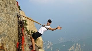 Download Deadliest Hike in the World: Mount Huashan, China Video