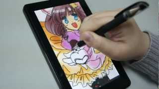 Download Amazon kindle fire Paint with capacitive stylus DAGi P602 Video