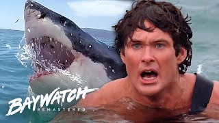 Download Great White Shark ATTACK On Baywatch! Will Mitch Save Jill?! Baywatch Remastered Video