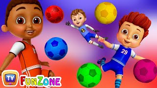 Download Learn Colors with Football - Kids Play with Colorful Football/Soccer Balls | ChuChu TV Funzone Games Video