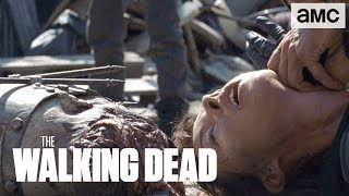 Download 'Rick vs Jadis & the Scavengers' Talked About Scene Ep. 807   The Walking Dead Video