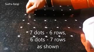 Download 6 to 7 dots rangoli video | Sudha Balaji kolam designs Video