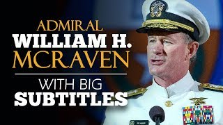 Download LEARN ENGLISH | ADMIRAL WILLIAM H. MCRAVEN: Change the World (English Subtitles) Video