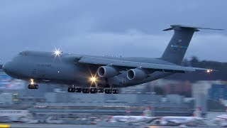 Download US Air Force Lockheed C-5M SUPER GALAXY [84-0061] at Zurich Airport | 4K Video