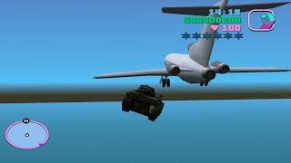 Download GTA Vice City crash with plane and airship plane Video