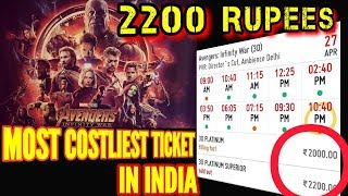 Download AVENGERS INFINITY WAR MOST COSTLIEST TICKET IN INDIA IS 2200 RUPEES PER TICKET Video