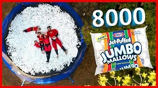 Download 8,000 MARSHMALLOWS ON TRAMPOLINE | THE INCREDIBLES‼️ Video