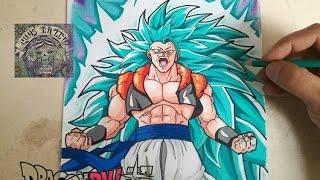 Download COMO DIBUJAR A GOGETA SSJ3 DIOS AZUL / how to draw gogeta ssj3 good blue Video