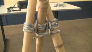 Download How to make a bamboo tripod using lashings by Alex Chorley, age 10 Video