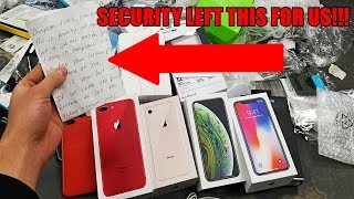 Download APPLE STORE SECURITY LEFT US A NOTE!! Security gets angry at us for Apple Store Dumpster Diving! Video