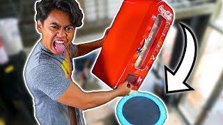Download Coke Machine Vs Trampoline From 450cm! ~ Bounce Video