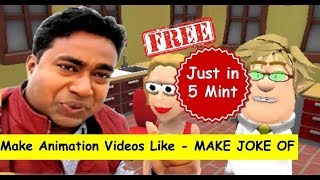 Download Make 3d Animation Videos like - Make joke of in Just 5 mints for free Video