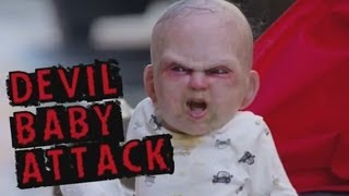 Download Devil Baby Attack: Evil baby prank terrifies innocent people in New York Video