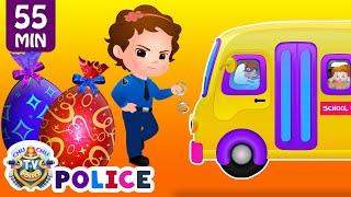 Download ChuChu TV Police Save School Children from Bad Guys in the School Van | ChuChu TV Surprise Eggs Toys Video