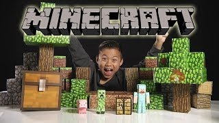 Download MINECRAFT Papercraft Overworld Deluxe Set - Unboxing & Review Video