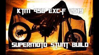 Download KTM 450 EXC-F 2019 Enduro - Supermoto Stunt Build | Vlog 7 [SWEDISH] Video
