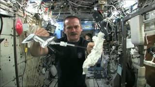 Download Wet Washcloth In Space - What Happens When You Wring It? | Video Video
