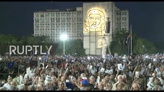 Download Cuba: Thousands gather to mourn Castro in Revolution Square Video
