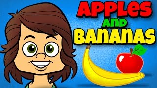 Download Apples and Bananas with Lyrics - Vowel Songs - Kids Songs by The Learning Station Video