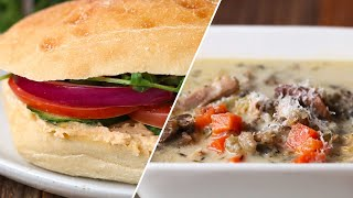 Download Chicken And Wild Rice Soup And Sandwich • Tasty Video