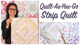Download Quilt-As-You-Go Made Modern Book - Strip Quilt Video